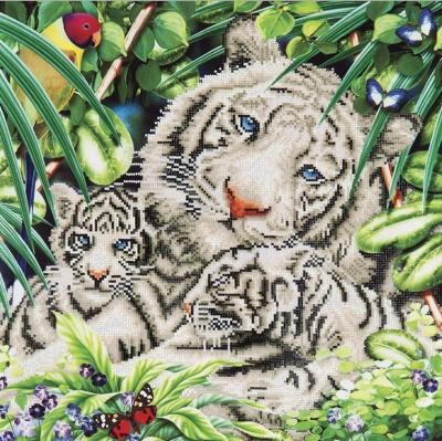 White Tiger & Cubs by Diamond Dotz