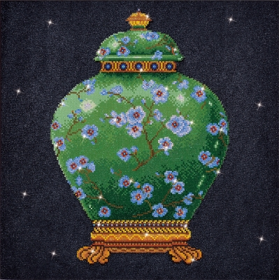 Green Vase by Diamond Dotz