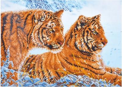 Tigers in the Snow by Diamond Dotz