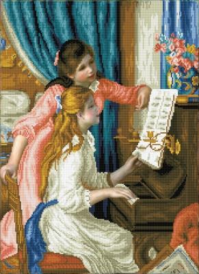 Girls at the Piano (Renoir) by Diamond Dotz