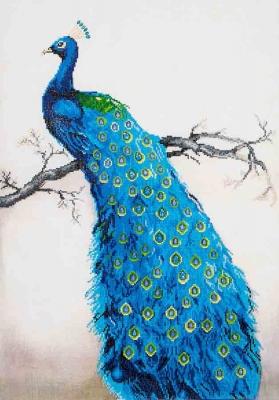 Blue Peacock by Diamonds Dotz