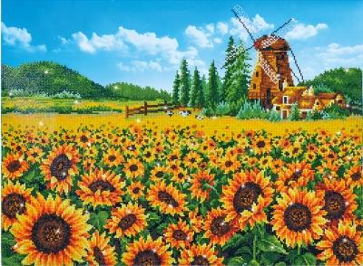 Sunflower Windmill by Diamond Dotz