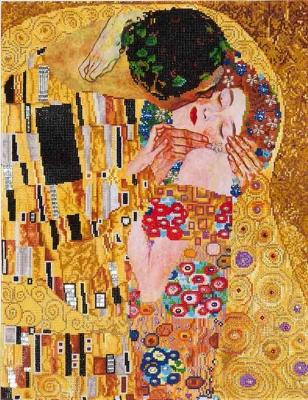 The Kiss (Gustav Klimt) by Diamond Dotz