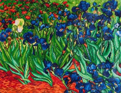 Irises (Van Gogh) by Diamond Dotz