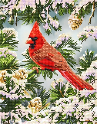 Good Fortune Cardinal by Diamond Dotz