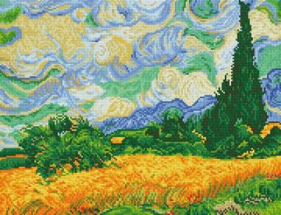Wheat Fields - Van Gogh by Diamond Dotz