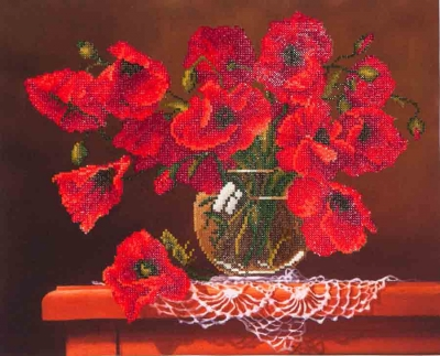 Red Poppies by Diamond Dotz