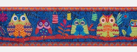 Wide Forest Owls on Midnight Blue by Odie Bailloeul