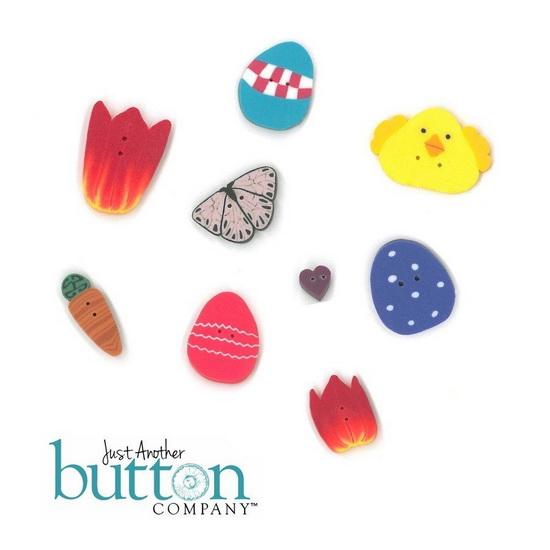 BUTTON PACK - O HOPPY DAY - Praiseworthy Stitches
