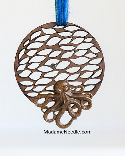Wild Octopus wooden scissors holder by Madame Needle