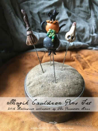 Magic cauldron pins by The Primitive Hare
