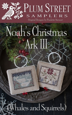 Noah's Christmas Ark III (Whales & Squirrels) by Plum Street Samplers