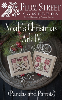 Noah's Christmas Ark IV (Pandas and Parrots) by Plum Street Samplers