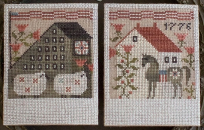 Summer Saltboxes (2 designs) The Salt Shakers by Plum Street Samplers