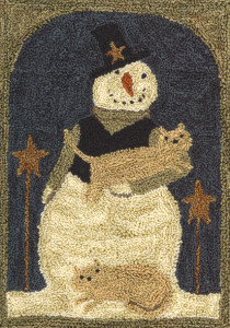 PN016 - Snowman with Cats by Teresa Kogut