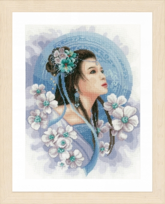 Asian Lady in Blue,PN169168,Lanarte