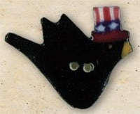 Debbie Mumm Buttons - 43157 - Patriotic Crow
