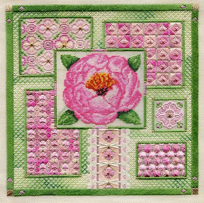 Peony collage by Laura J.Perin Designs