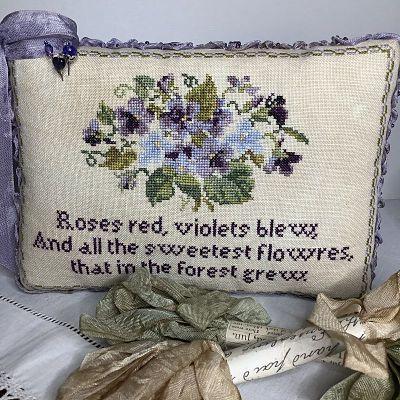 Hands Across the Sea Samplers Spring Violets -Soie d'Alger skeins only