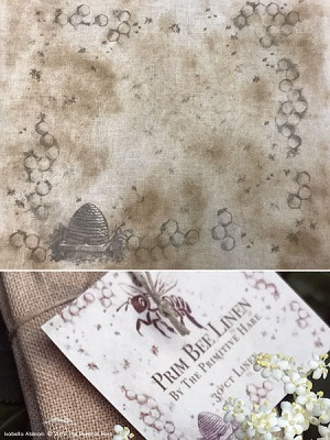Prim Bee linen,30ct,14x17