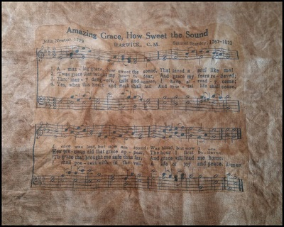 Printed Music Sheet Fabric- Amazing Grace by Kanikis