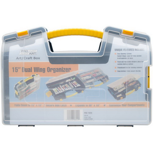 Pro Art Double-Sided Organizer Blue & Yellow
