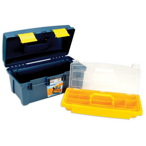 Pro Art Storage Box W/Inner Tray Blue & Yellow