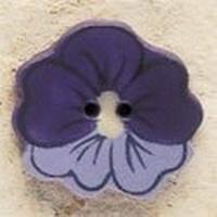 Debbie Mumm Buttons - 43183 - Purple Pansy