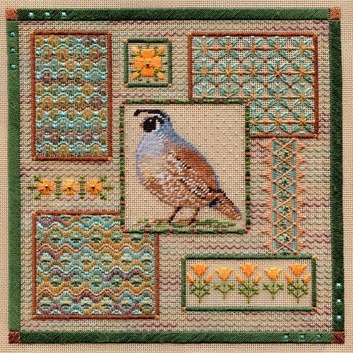 California Quail Collage by Laura J.Perin Designs