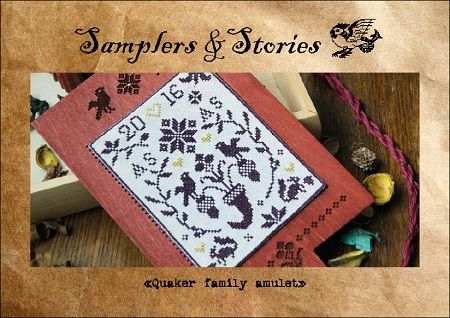 Quaker family amulet by Samplers & Stories