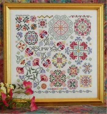 Swirling flowers sampler by Rosewood Manor