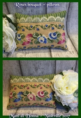Roses Bouquet Pillows MDD-RBP by Mani di Donna