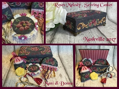 Roses Melody Sewing Casket MDD-RMSC by Mani di Donna