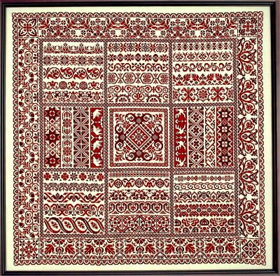 Rhapsody in Red Ribbon Sampler by Sampler Cove