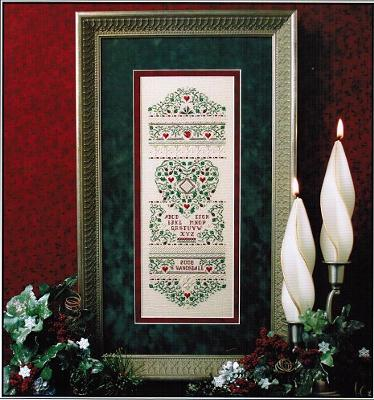 The Sweetheart Tree SE19 Holly & Hearts Sampler-LIMITED