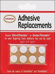 Under Thimble Adhesive Replacements by Colonial Needle