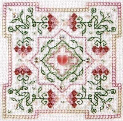 The Sweetheart Tree SV-T122 Strawberry Quilt Block
