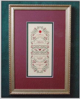The Sweetheart Tree SV-T127 Birthstone Sampler Collection/January - Garnet and Carnation