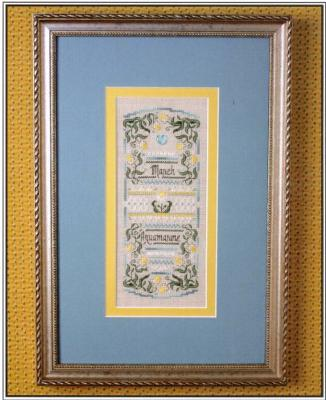 The Sweetheart Tree SV-T129 Birthstone Sampler Collection/March - Aquamarine and Jonquil