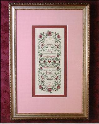 The Sweetheart Tree SV-T132 Birthstone Sampler Collection/June - Pearl & Rose