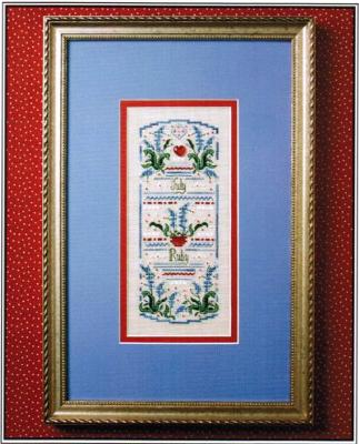 The Sweetheart Tree SV-T133 Birthstone Sampler Collection/July - Ruby & Larkspur