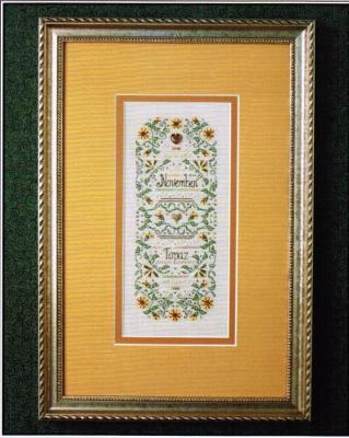 The Sweetheart Tree SV-T137 Birthstone Sampler Collection/November - Topaz & Chrysanthemum