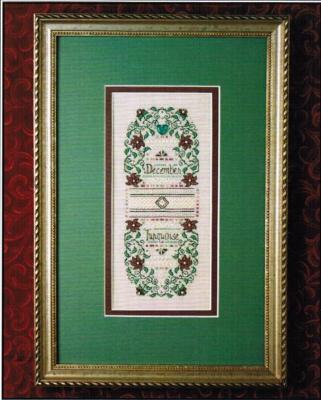 The Sweetheart Tree SV-T138 Birthstone Sampler Collection/December - Turquoise & Poinsettia
