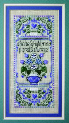 The Sweetheart Tree SV-TK96 Tiny Periwinkle Floral Sampler
