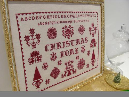 Sampler Christmas Home MDD-SCH by Mani di Donna