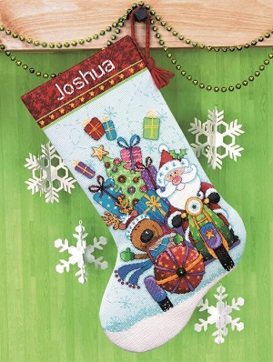 Santa's Sidecar Stocking-70-08867- by Dimensions