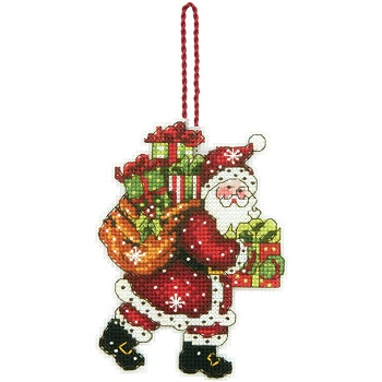 Santa with bag ornament by Dimensions
