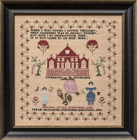 Sarah Howarth 1835 by Hands Across The Sea Samplers