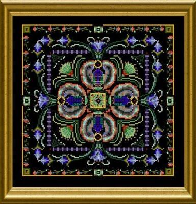 Beaded scarab tile by Chatelaine-DELICA beads pack