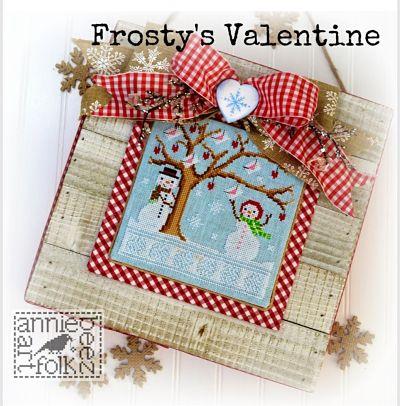 Annie Beez Folk Frosty's Valentine